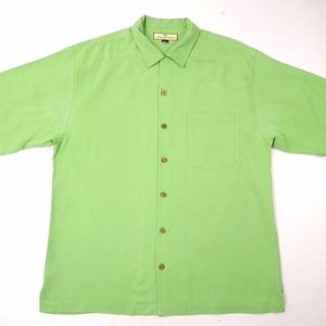 Tommy Bahama Relax 100% Silk Sz M Button Shirt
